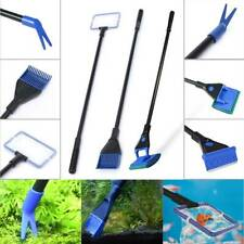 5 in 1 Glass Fish Tank Aquarium Glass Brush Cleaning Tool Fishnet Cleaner Kit LL