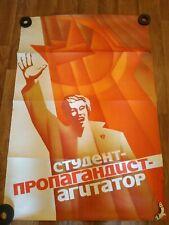 Soviet propaganda original poster RARE