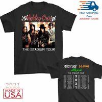 New Motley Crue t Shirt The Stadium Tour 2021 T-Shirt Size Men Black M-2XL