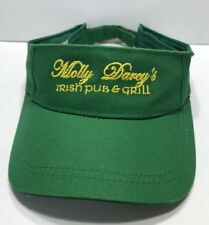 Molly Darcy's Irish Pub & Grill Visor Cap Hat Green Adjustable Adult