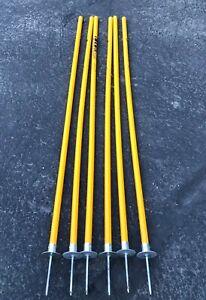 Kwik Goal Soccer Coaching Training Sticks - Gates - Lot Of 6 - Coach Aid