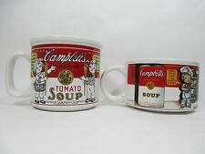 Campbell's Condensed Tomato Wide Mouth Collectible Soup Cups Mugs Westwood 97 99