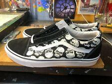 Vans Old Skool TM Glow Skulls Glow In The Dark Black White  Size US 11 Men New