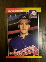 1989 Donruss #642 John Smoltz Atlanta Braves Baseball RC Rookie HOF