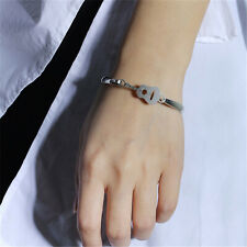 Women Stainless Steel Silver Guitar Pendant Bracelet Bangle Cuff Anklet Chain