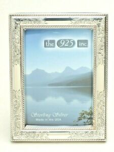 """Sterling Picture Frame by 925 Inc 4"""" x 6"""" engraved """"Nostalgia"""" design New in Box"""