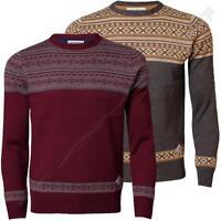 Mens Jumper Fairisle Threadbare IMS 066 Pullover Knitwear Sweater Acrylic