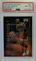 1995-96 Topps Mystery Finest Borderless Michael Jordan #M1, Parallel, PSA 8