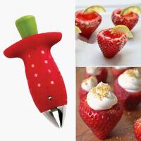 Strawberry Berry Stem Gem Leaf Huller Remover Obstschneider Slicer Cutter Spl ML