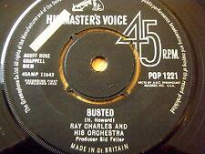 "RAY CHARLES - BUSTED  7"" VINYL"