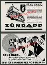 orig Reklame Zündapp Motorrad Technik Rennsport Rennfahrer Nürnberg Franken 1936
