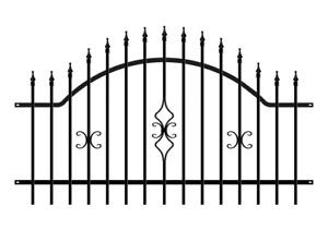 Zaun Zaunelemente Metallzaun Gartenzaun verzinkt Schmuckzaun schwarz anthrazit