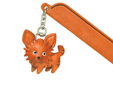 Chihuahua long Leather dog Charm Bookmarker *VANCA* Made in Japan #61717