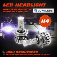 Pair PHILIPS 80W LED Headlight Kit H4 9003 HB2 Hi/Low Beams 6000K Canbus 16000LM