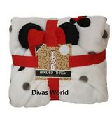 Disney Mickey Minnie Hooded Throw Cosy Fleece Blanket 125cm x 150cm Primark