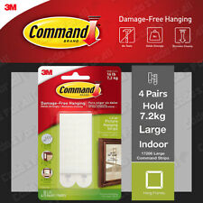 3M Command Picture Frame Hanging Adhesive Stick on Strips Damage Free - Large