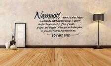 Wall Room Decor Art Vinyl Sticker Mural Decal Namaste Poster Quote Yoga SA135
