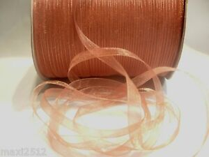 10m x 7mm Organza Ribbon : 30 Mid Brown