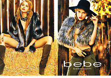 PUBLICITE ADVERTISING 2010   BEBE  haute couture  (2 pages)