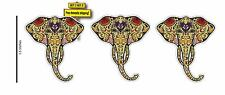 Day of the Dead Elephant (1 Pack=3 Decals) Sugar Skull Vinyl Decal Sticker DOD4