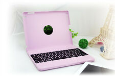 Clam Shell For iPad 2 3 4 Become Notebook Wireless Bluetooth Keyboard Case Pink