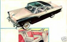 1955 Ford CROWN VICTORIA, GLASS TOP, Refrigerator Magnet, BLACK/WHITE, 40 MIL