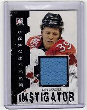MATT CARKNER 11/12 ITG Enforcers Instigator Jersey I-10 Game-Used Hockey Card