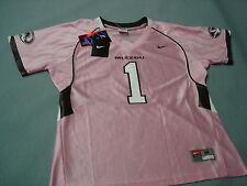 Nike MISSOURI TIGERS  WOMENS Pink  FOOTBALL JERSEY   MED New !! Tapered Slim Fit