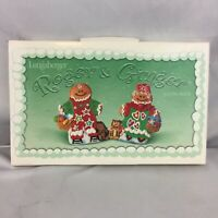 Longaberger Christmas Roger and Ginger Cookie Molds Pottery 2000 and Ornaments