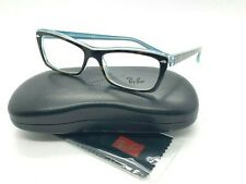 Ray-Ban OPTICAL ORX5255 5023 TORTOISE/CLEAR LIGHT BLUE EYEGLASSES 51-18-135 NEW