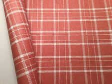 2 Rolls SCHUMACHER Tambi Coral Paperweave Hand Woven Wallpaper--PLAID IS BACK!