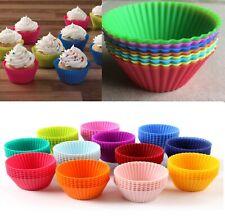 12 * Molde Mini Silicona Cup Cake Pan Mollete Magdalena formulario para hornear Cocina más reciente