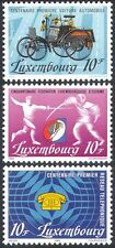 Luxembourg 1985 Cars/Transport/Telephone/Communications/Fencing/Sports 3v n42473