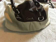Authentic Coach F15445 Beige Off White Leather Ashley Satchel | eBay