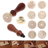 Retro Wood Stamp Classic Sealing Wax Seal Vintage DIY Stamp Letters Invitation