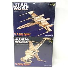 2 AMT Star Wars Model Kits  B wing X Wing Fighter Gold Tone Limited Edition