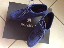 NAVY BOOT Stiefeletten Gr. 40 Blau Damen Schuhe Boots Shoes Wedges Neu f987ec8c16c