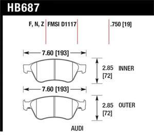 Hawk for 04-10 Audi A8 Quattro / 07-11 S6 / 07-10 S8 HP Plus Front Street Brake