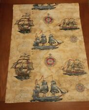 WORLD MAP and Ships WALLPAPER - Style-Tex  VINTAGE