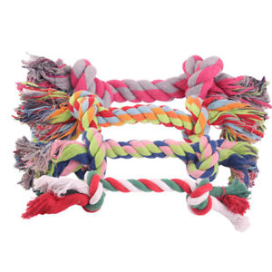 16cm Chew Cotton Braided Bone Rope Tug Toy for Dogs Grinding Teeth Supplies Gift