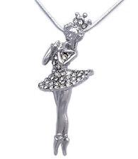 Princess Ballerina Ballet Dancer Dancing Girl Pendant Necklace Jewelry n2028c