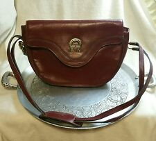 Vintage Etienne Aigner Handmade Burgundy Leather Bag Purse