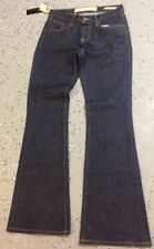 new york and co womens jeans flare trouser wide leg dark low rise size 2/26