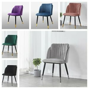 Milano Crushed Velvet Chair Scallop Shell Modern Home Dining Chair Furniture
