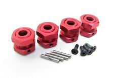 Arrma TYPHON 4x4 3s BLX - 17mm RED aluminum metal wheel HEX HUBS AR102696