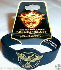 THE HUNGER GAMES: MOCKINGJAY PART 1 SILICONE RUBBER BRACELET ~NECA~ FREE SHIP