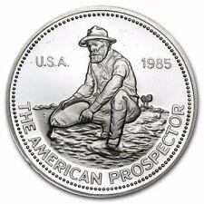 (1) 1985 ENGELHARD PROSPECTOR! .999 SILVER ROUND BULLION! AMAZING US COIN! #LVC