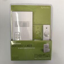New Iq America Wrls W/2 Push Button Doorbell Wd-1152