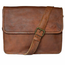 Bag Real Leather Vintage Messenger Shoulder Men Satchel Laptop School Briefcase