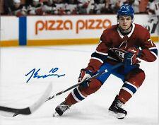 Autographed Montreal Canadiens Jake Evans 8x10 Photo #3 Original